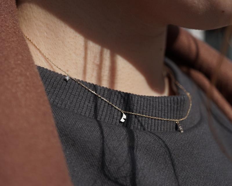 GICLAT / 木洩れ日 Diamond station necklace