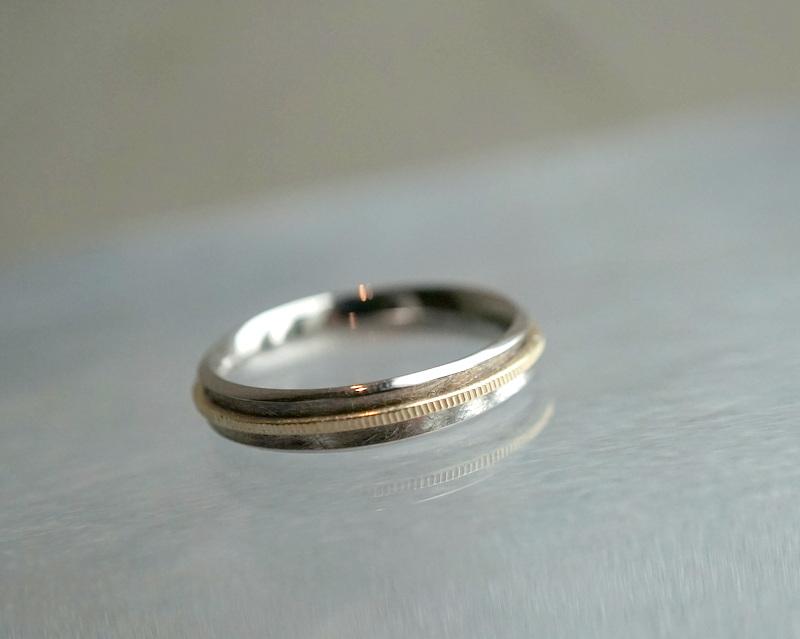 GICLAT / ring on ring K18WG/YG