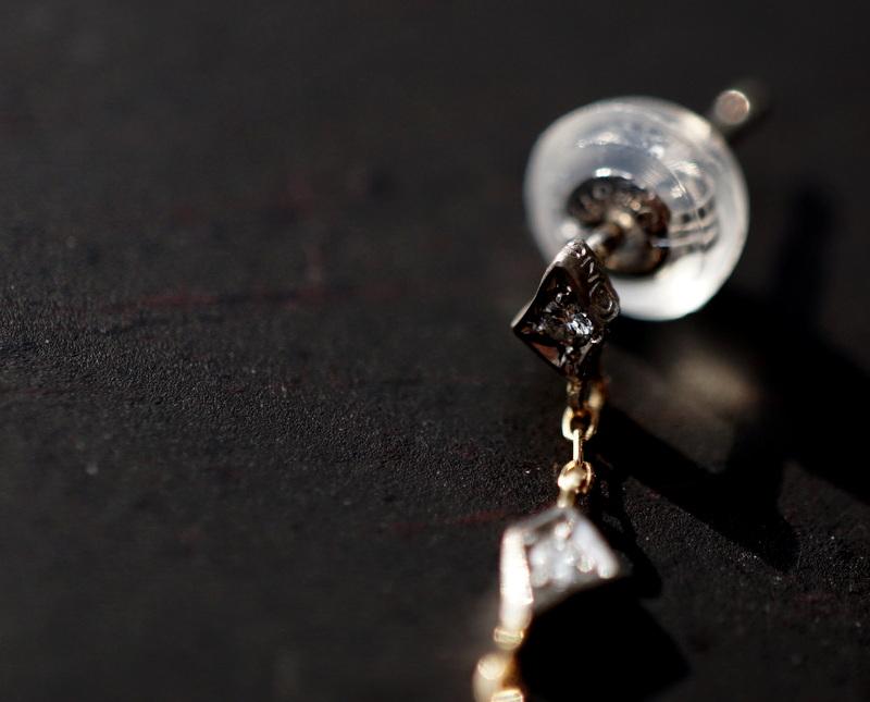 GICLAT / 木洩れ日 Diamond Chain pierce(片耳用)