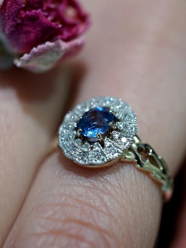【期間限定展開】 Mayuranoir - Benoite ring バイカラーサファイア K10 Pt950 #11