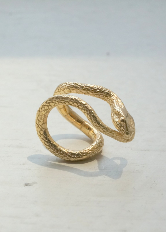 ELCAMI / 蛇カフ ゴールド (EE-098G)