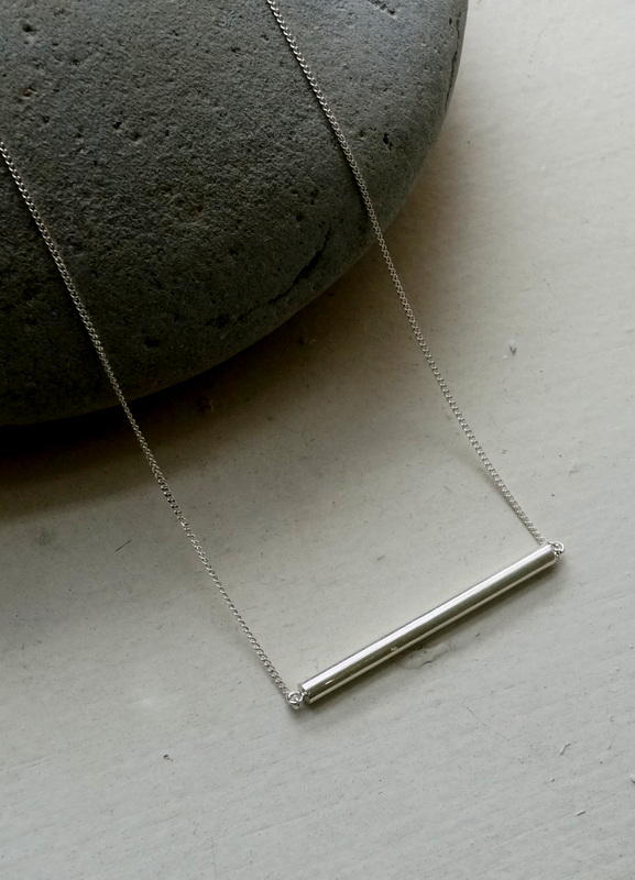 in her Light line necklace