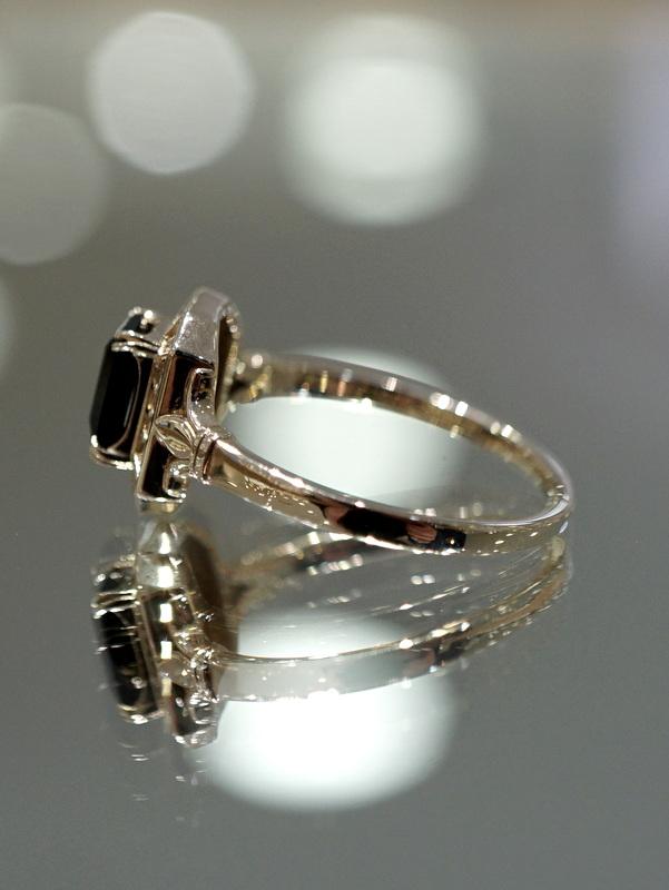 【期間限定展開】 Mayuranoir - Desiree ring ブラックスピネル K10 #11