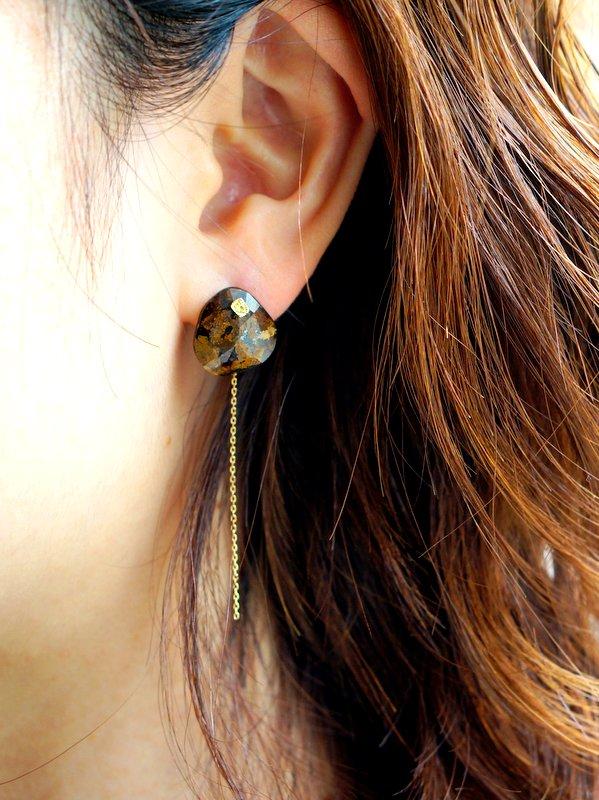 monaka jewellery ゴールデンオキシデオンピアス 片耳用