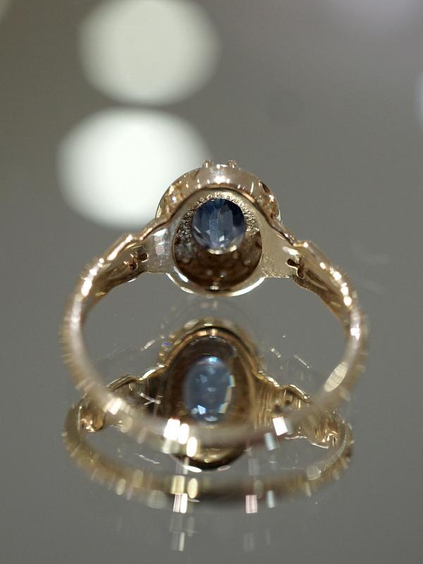 【期間限定展開】 Mayuranoir - Corinne ring ブルーサファイア K10 #11