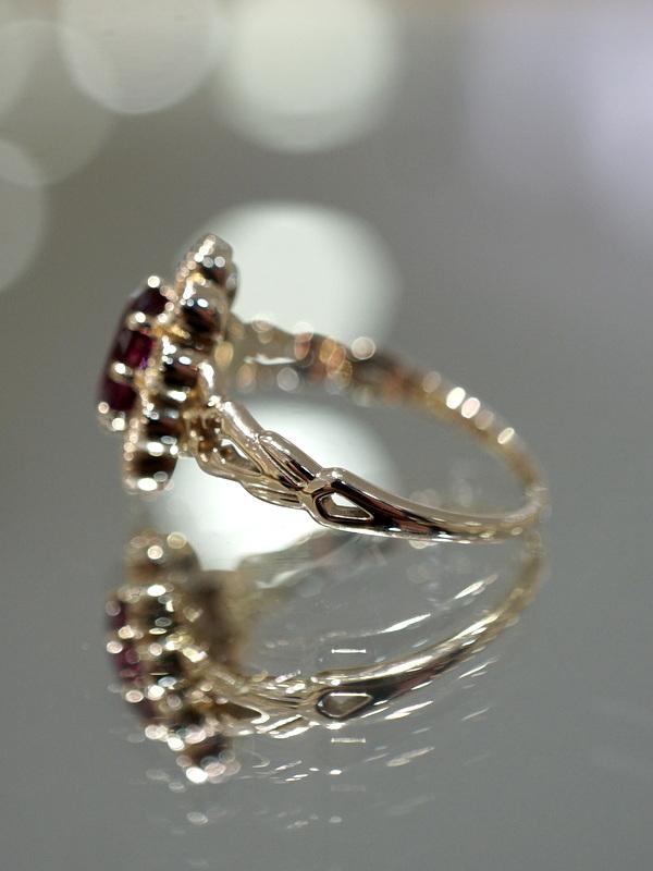 【期間限定展開】 Mayuranoir - Angelique ring ロードライトガーネット K10 #11