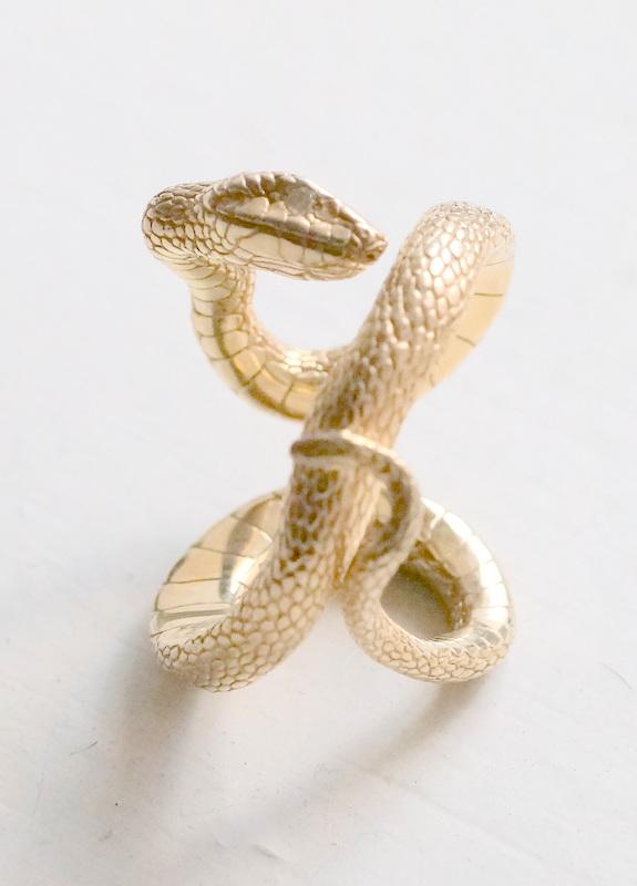 ELCAMI 蛇リング ゴールド (ER-065G)