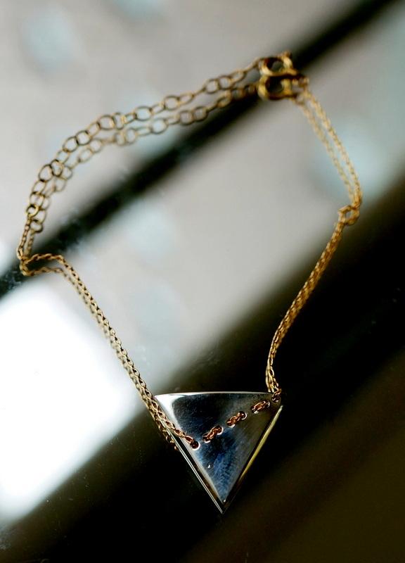 uM / stitch bracelet (triangle)