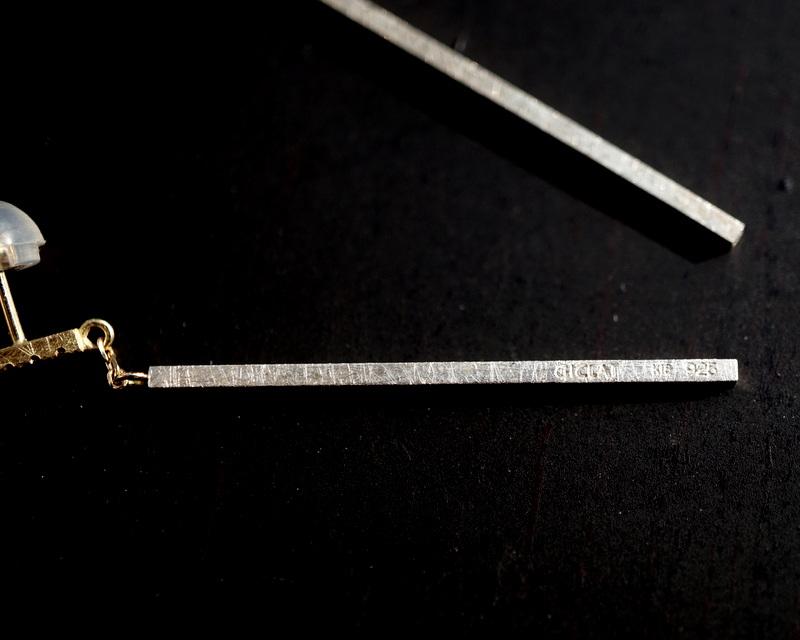 GICLAT / middle bar Diamond pierce