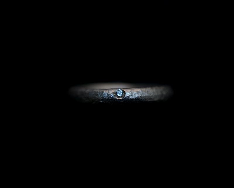 Kuraishi Takamichi /  巡る指環  「一目(鍛金/narrow)」