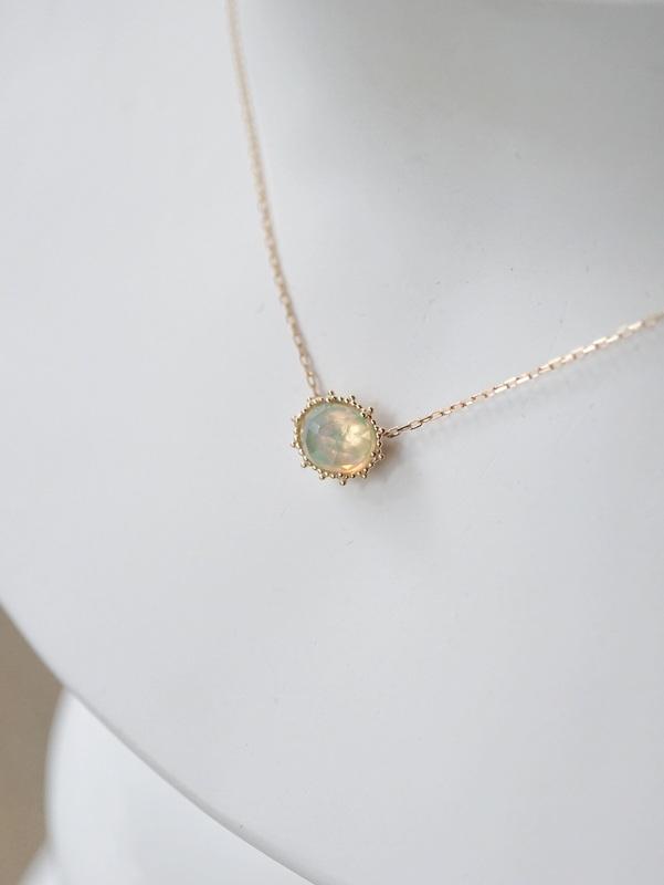 HAVITAS Granulation necklace オパール K14YG×K18YG