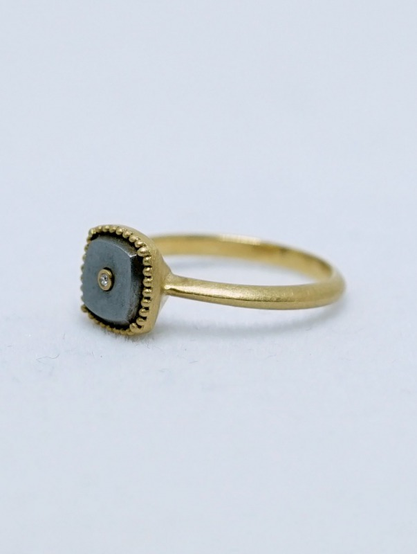 YES / Iron SolitaireRing K18