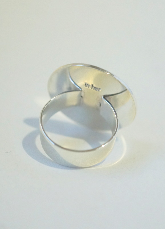 in her Circre silver ring