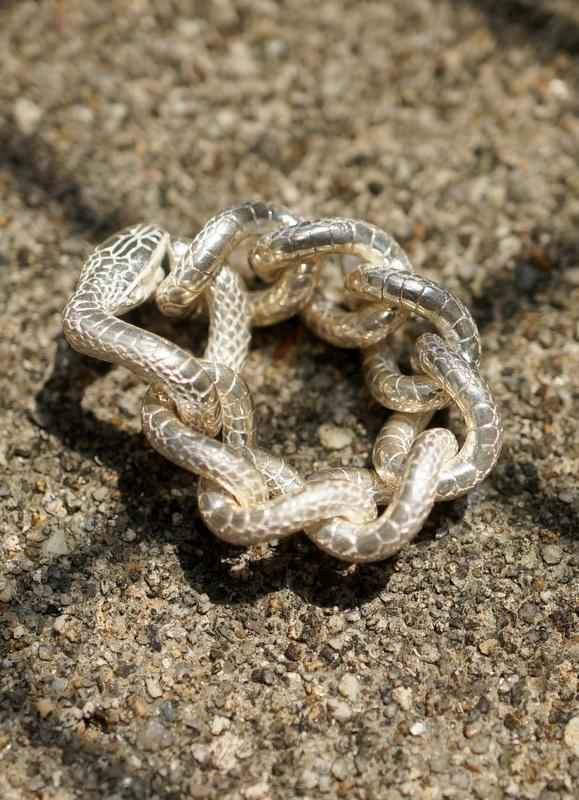 ELCAMI 蛇チェーンリング シルバー (ER-089S)