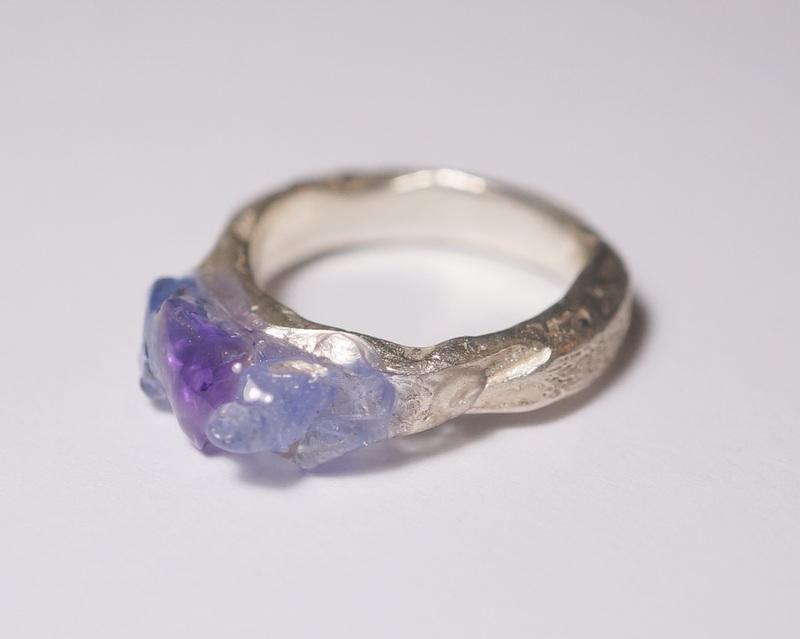 yuka ishikawa / 「beautiful memories ring」 アイオライト×アメジスト