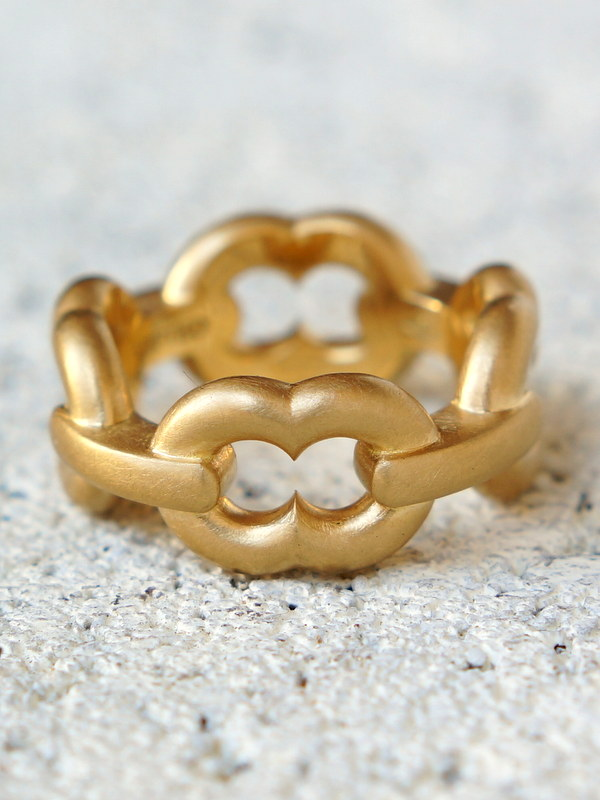 GIFTED / 4LINKED IMPLOSION CHAIN RING K18YG