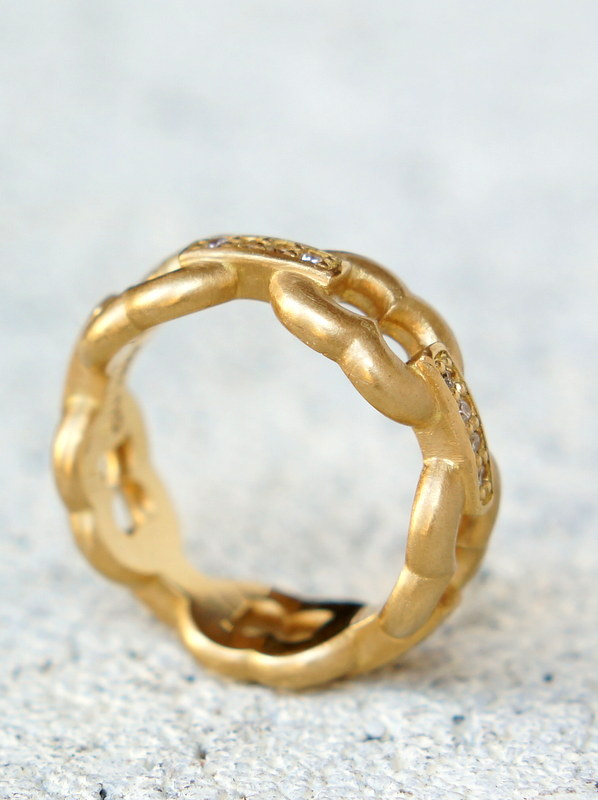 GIFTED/ 5LINKED IMPLOSION CHAIN RING K18YGD