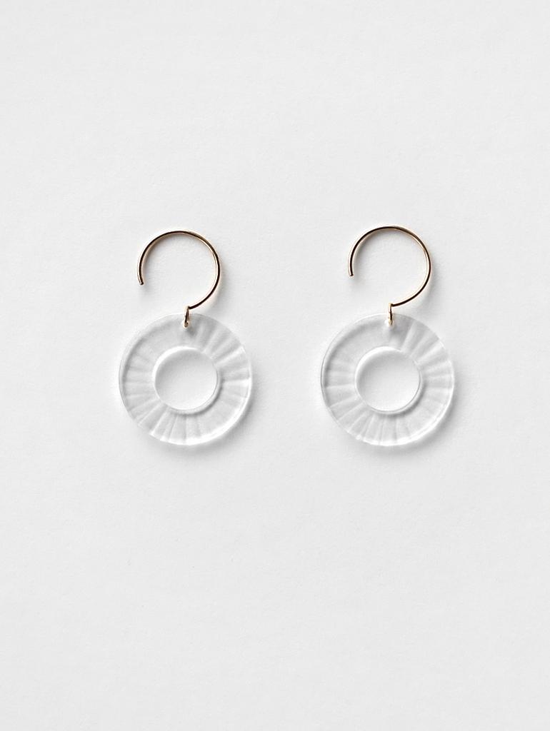 bubun(ブブン)bte051(S)-bte041(M) LOOP-piate hook earrings