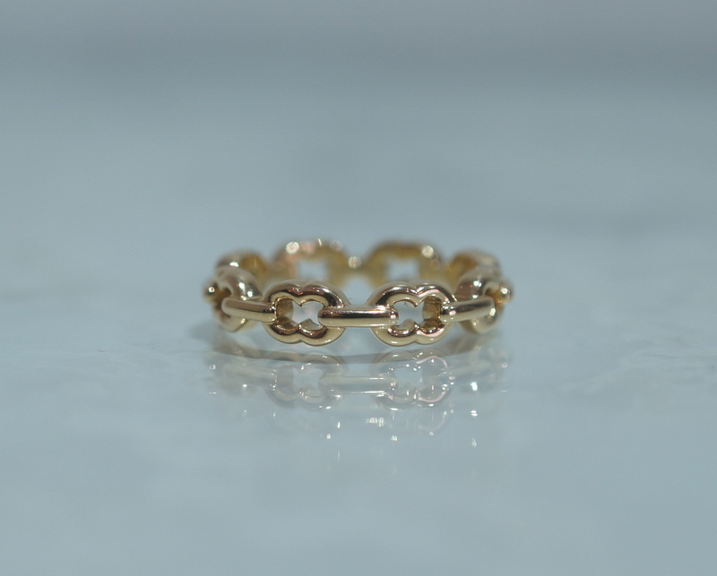 GIFTED / 8LINKED IMPLOSION CHAIN RING K18YG