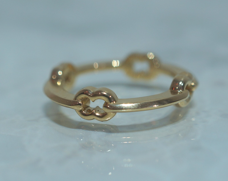 GIFTED / HOOPED IMPLOSION CHAIN RING K18YG