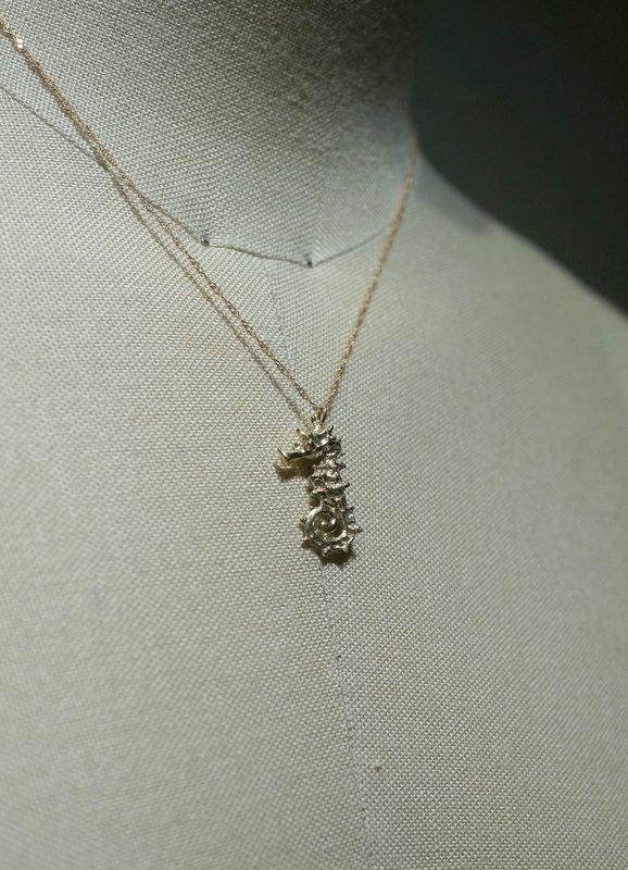 cocoon タツノオトシゴ  ネックレス K10