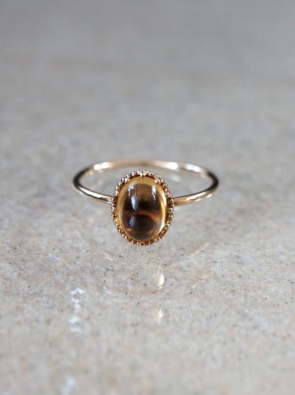 HAVITAS Granulation citrin ring (K14YG) #11