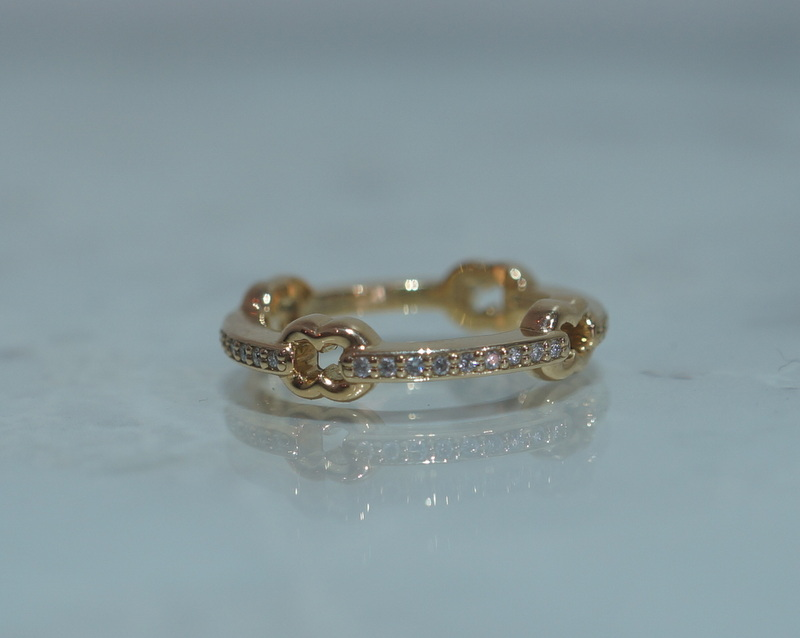 GIFTED / HOOPED IMPLOSION CHAIN RING K18YGD