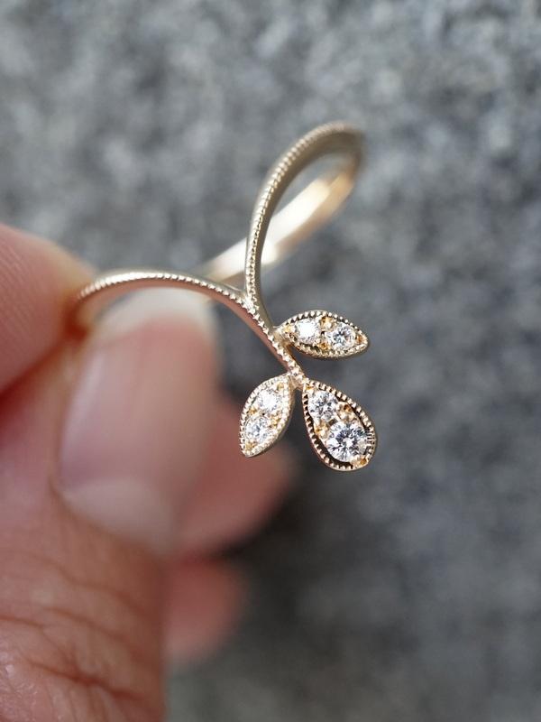Avaron YOHEI YAMAMURA 【期間限定掲載品】ー Dress up leaf ring K18YG #11
