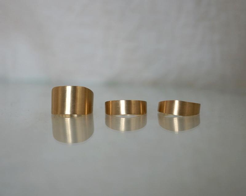 uM / SLOPE RING B K18YG(受注生産)