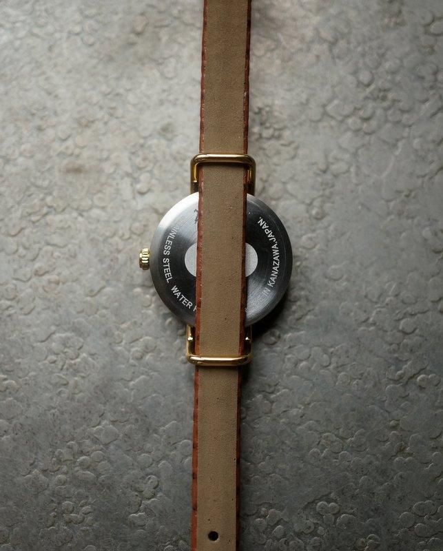 C-brain はなもっこ  『こないろ』  淡墨(うすずみ) ゴールド レディース × 7mm縁返しベルト リザードちゃ