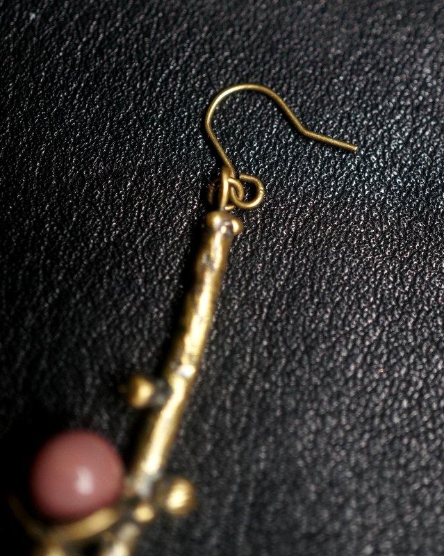 yuka ishikawa  memory branch pierced earrings L  red (片耳用)