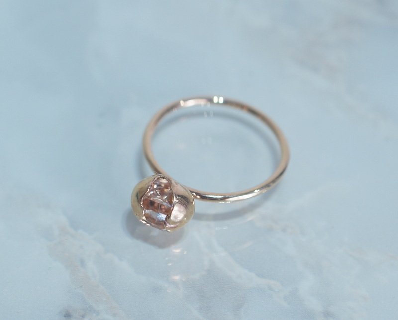 in her/ Herkimer Seed ring