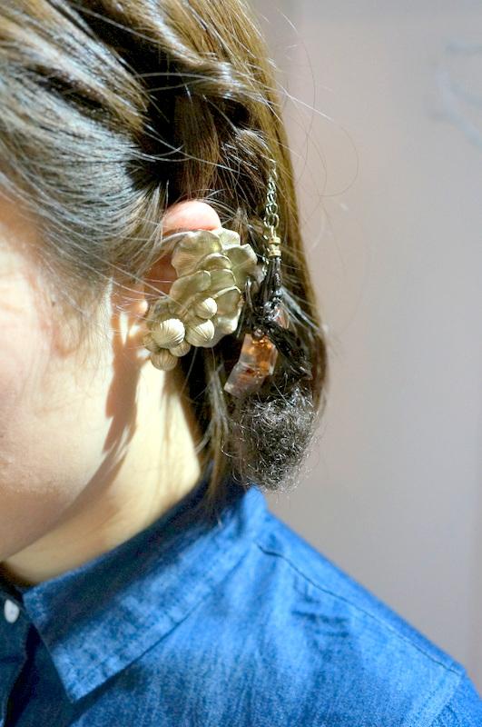 cocoon  大きな珊瑚とイソギンチャクの耳飾り