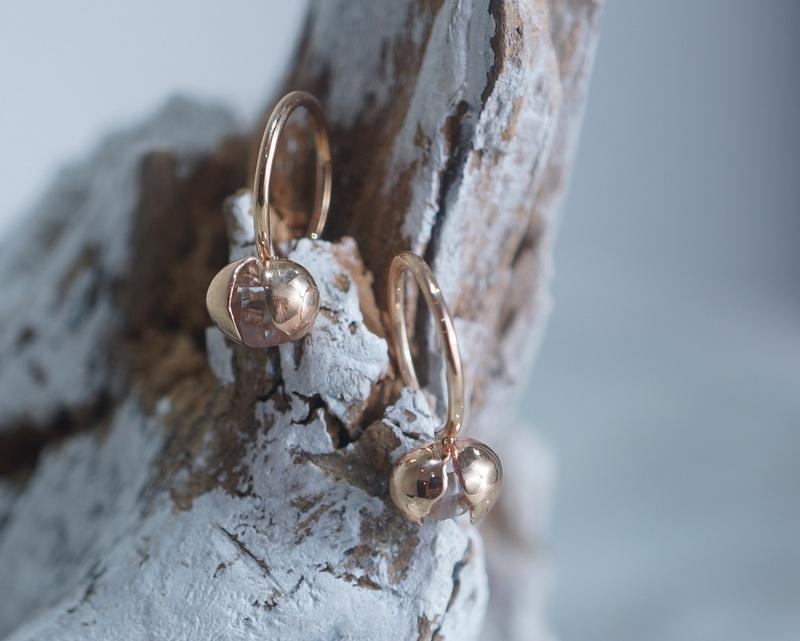 in her/ Herkimer Seed earrings