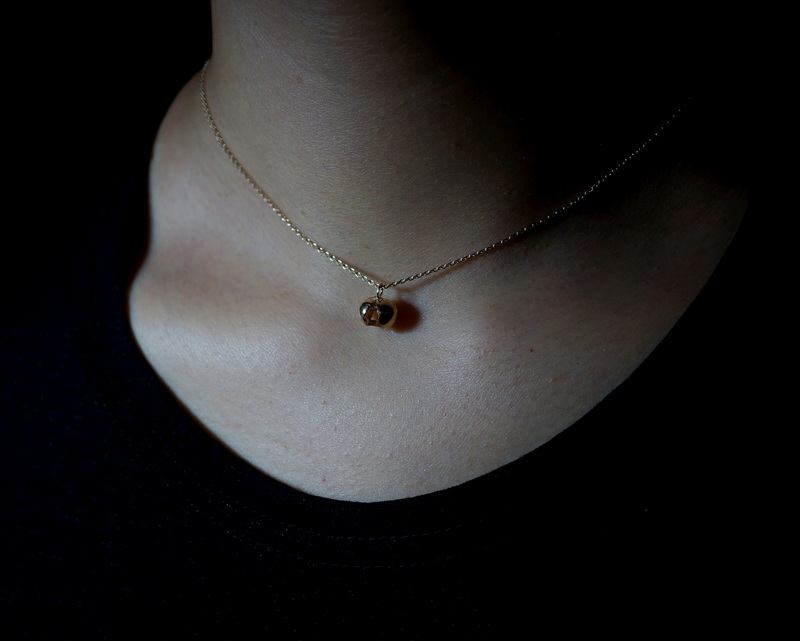 in her/ Herkimer Seed necklace