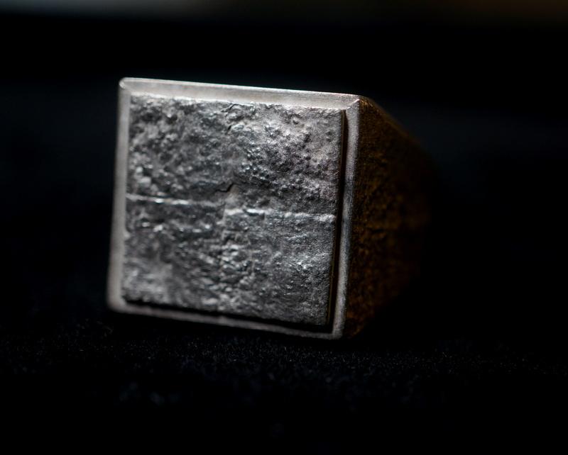 kagari yusuke × GIFTED / wall crack ring (stamp×silver)