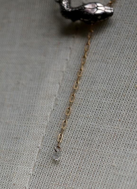 ELCAMI K10噛み付き蛇ネックレス シルバー (EN-064S)
