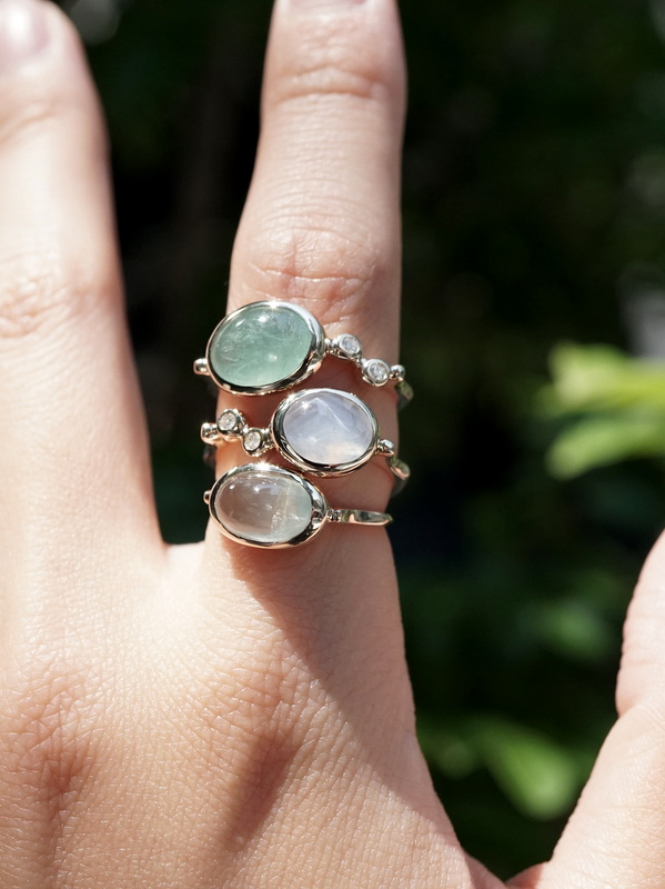 somon jewelryーGrandidierite dia Ring K10 #12.5
