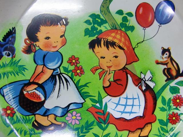ブリキのお皿【女の子】