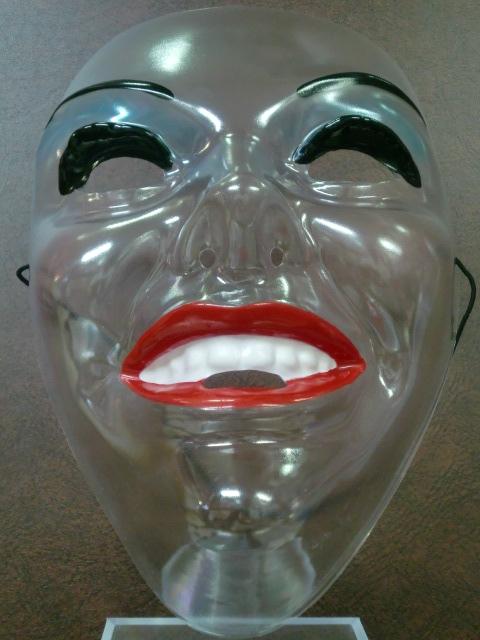 パーティーマスク,透明・女顔かぶりもの