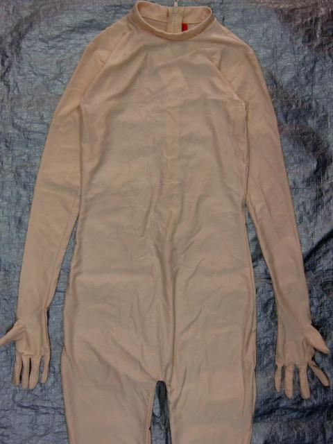 全身のかぶりもの・仮装用 ・肌色全身タイツ:Lサイズ