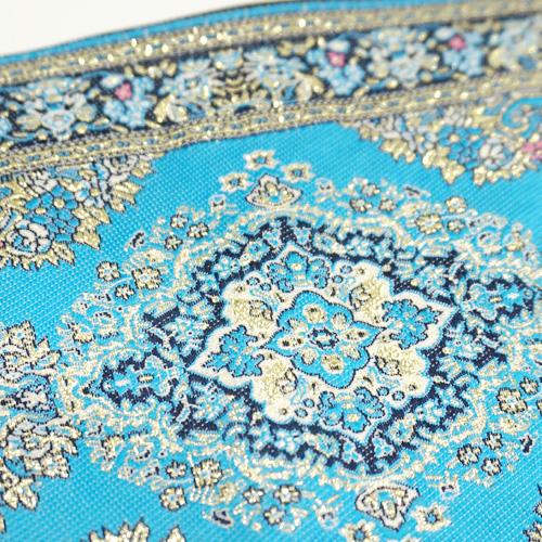 トルコ 絨毯柄ショルダーポーチ NP-FL009 ターコイズ