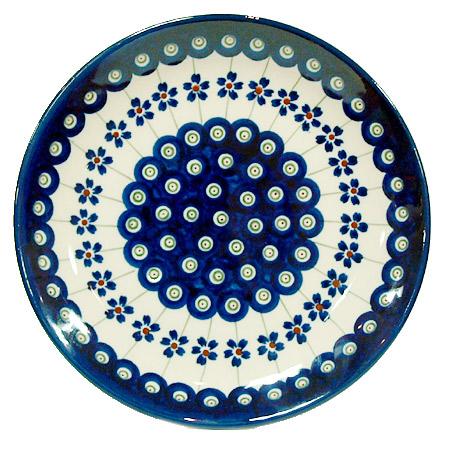 ポーランド陶器 ポーリッシュポタリー 「ボレスワヴィエツ」 プレート19cm GU814-166A ピーコック/さくら柄