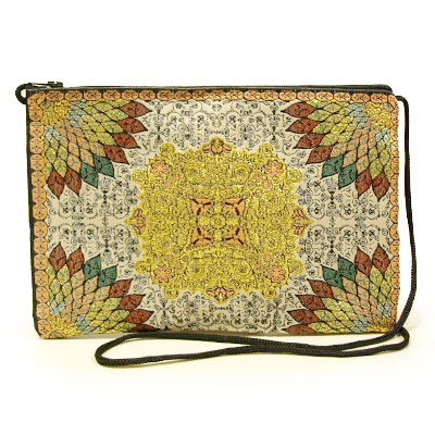 トルコ 絨毯柄ショルダーポーチ NP-FL007 (ショルダーストラップ約87cm)