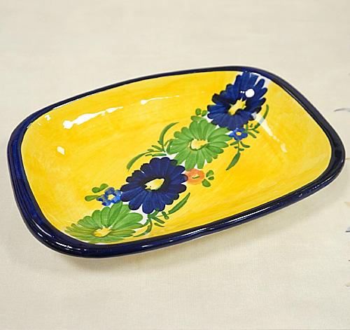 スペイン陶器 SP-597N 角丸角皿