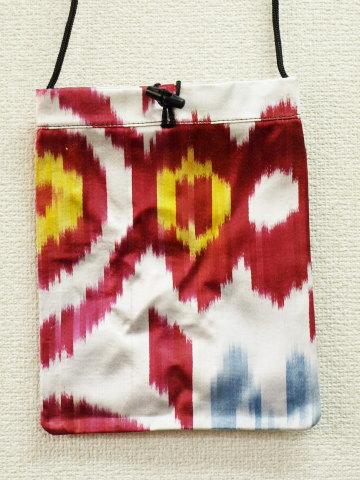 【最終処分!】イカットポシェット IK-A037 24x18cm