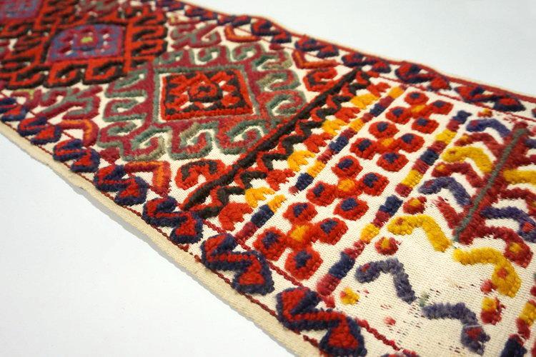 遊牧民のテント布(ヴィンテージキリム/絨毯) E-1779 146x34cm