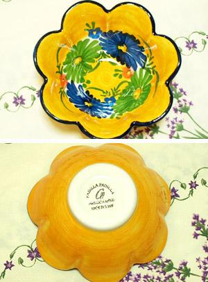 スペイン陶器 SP-6012N フリルボウル/青花 ハエン/JAEN