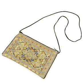 トルコ 絨毯柄ショルダーポーチ NP-FL003 (ショルダーストラップ約88cm)