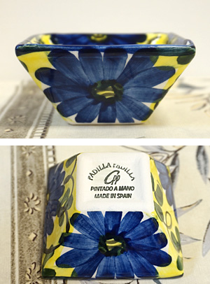 スペイン陶器 SP-4005AA 四角小鉢(小)